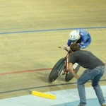 Individual Pursuit Canadian nationals 2016 with Canadian coach Richard Wooles