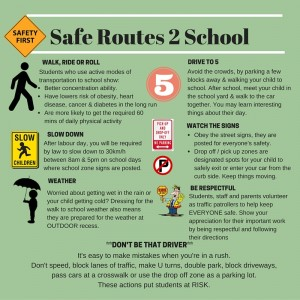 SRA Graphic of Safe Route 2 School - Social Media