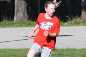 Rachael, running for Caulfeild, in cross-country.